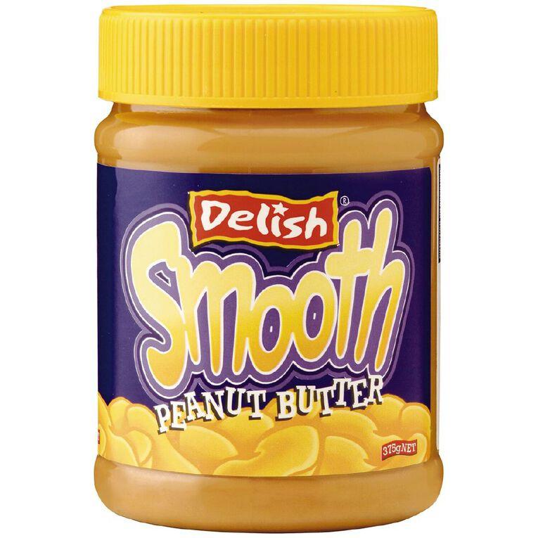 Delish Peanut Butter Smooth 375g, , hi-res