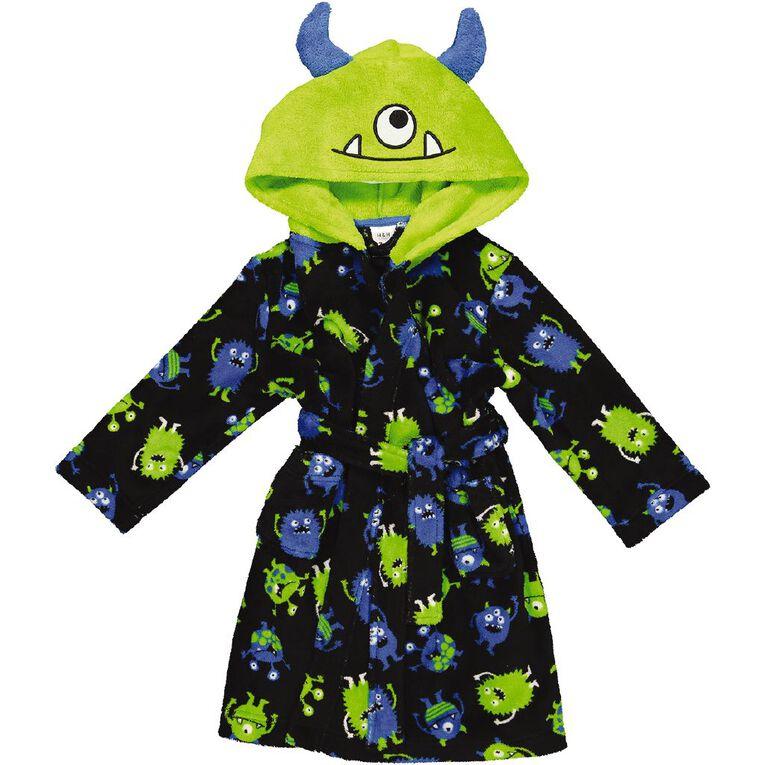 H&H Kids' Monster Robe, Black, hi-res