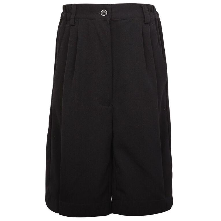 Schooltex Ladies' School Shorts, Black, hi-res