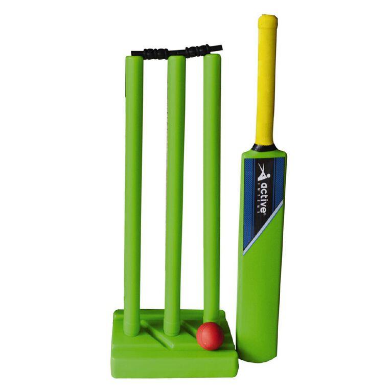 Active Intent Sports Plastic Cricket Set Size 6 Green, , hi-res