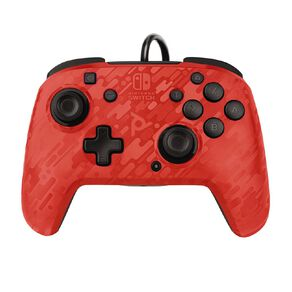 Nintendo Switch PDP Wired Controller Red Camo