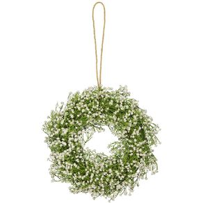 Living & Co Artificial Baby's Breath Wreath 39cm x 39cm x8cm White