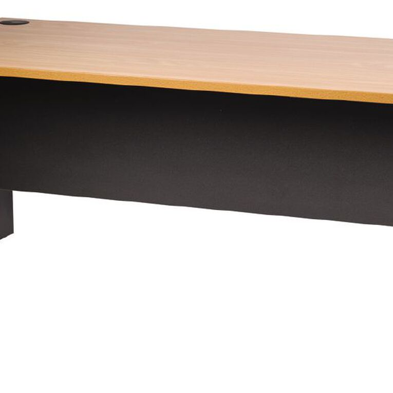 Firstline Desk 1500 Beech/Ironstone, , hi-res