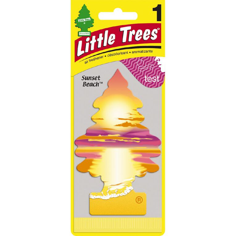 Little Trees Hanging Car Air Freshener Sunset Beach Scent, , hi-res