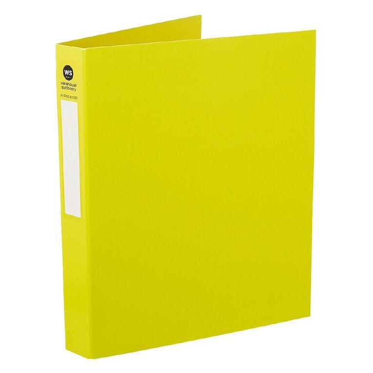 WS Ringbinder 2D 25mm Yellow A4, , hi-res