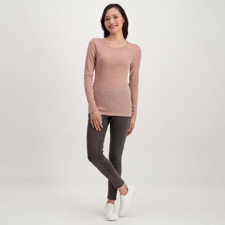 H&H Women's Merino Blend Crew Neck, Pink Light, hi-res