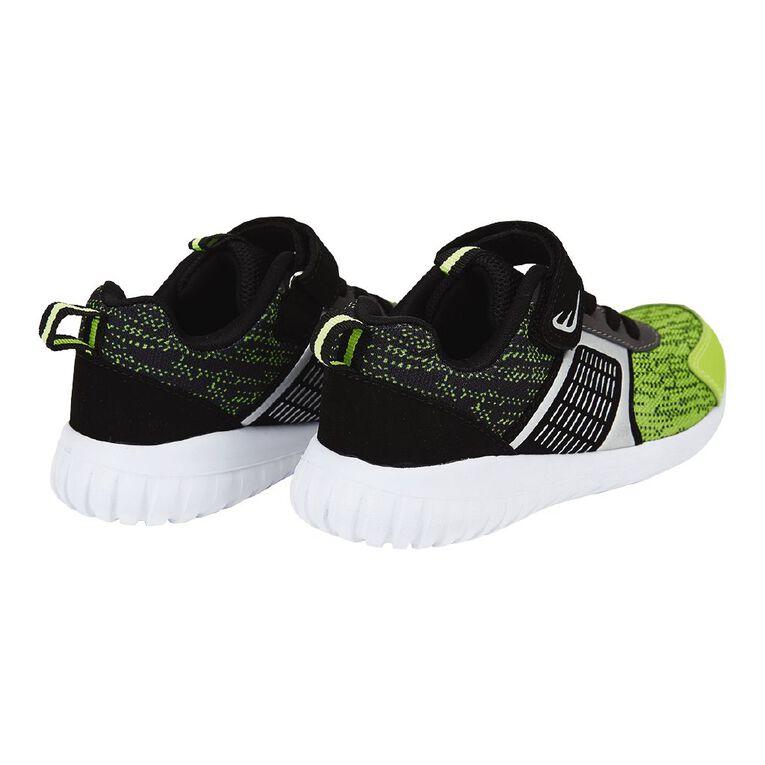 Active Intent Kids' Matrix Shoes, Black/Green, hi-res