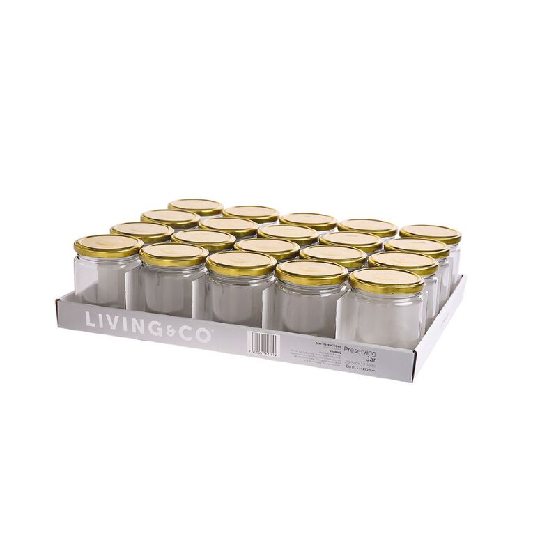 Living & Co Perserving Jar 20 Pack Clear 450ml, , hi-res