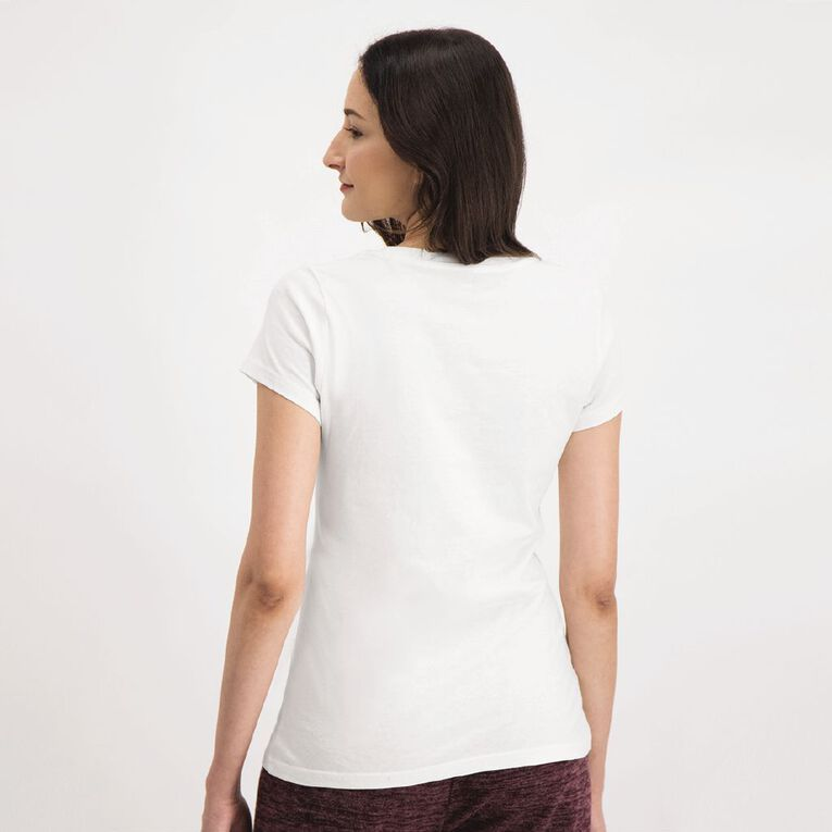 H&H Crew Neck Tee, White, hi-res image number null