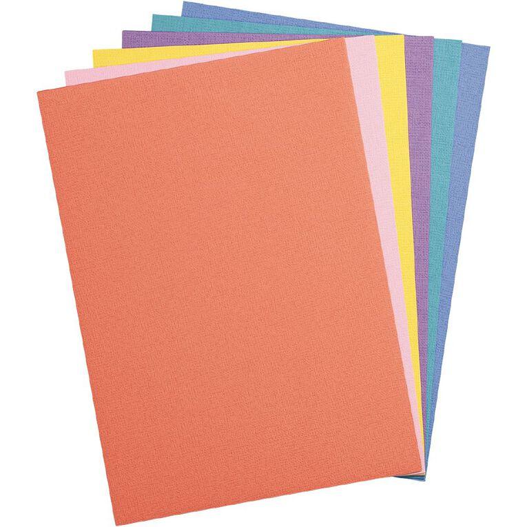 Uniti Value Cardstock Textured 216gsm 30 Sheets Brights A4, , hi-res