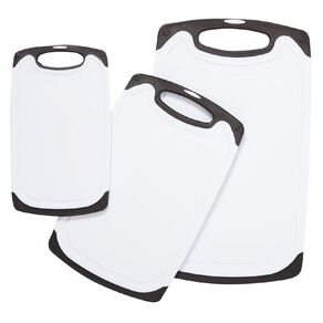 Living & Co Non Slip Chopping Board Set with Drainage Groove 3 Pack