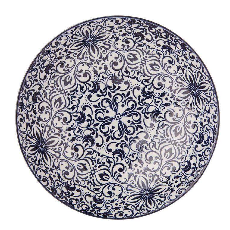 Living & Co Global Moroccan Mosaic Serving Bowl Multi-Coloured 26cm, , hi-res