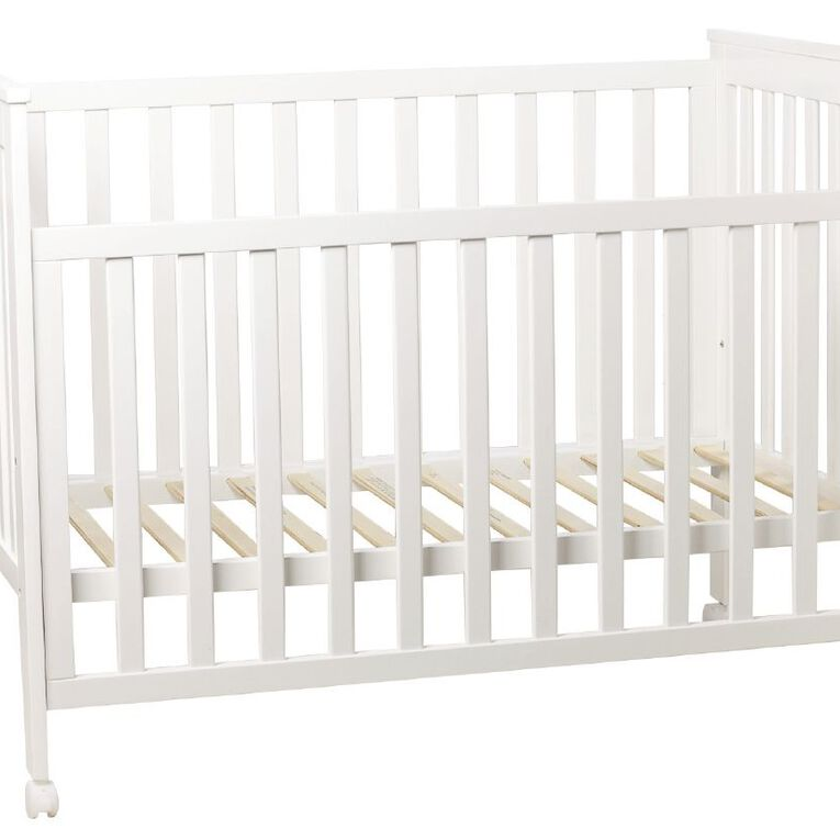 Babywise Drop Side Cot White, , hi-res