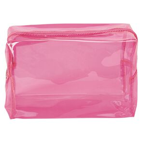 Neon Brights Pink Cosmetic Bag