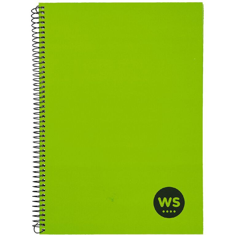 WS Notebook Wiro 200 Pages Hard Back Green A4, , hi-res