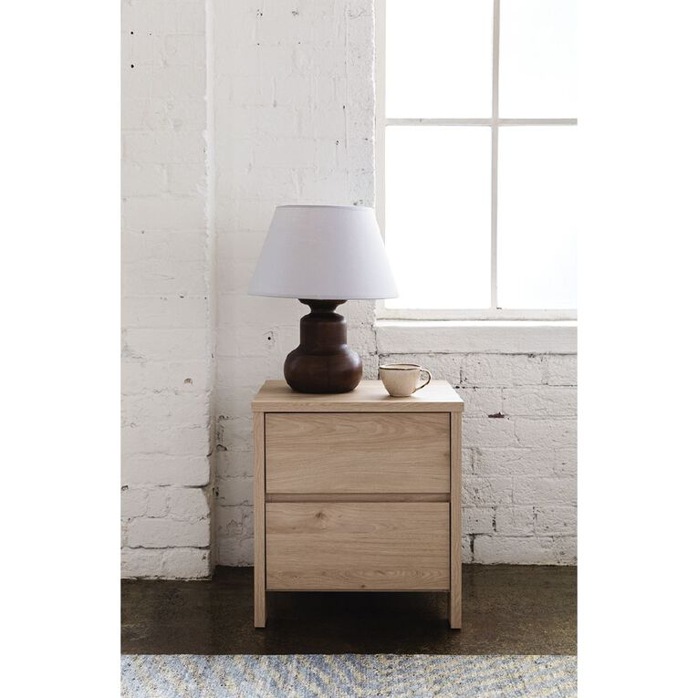 Living & Co Waipoua 2 Drawer Bedside Table, , hi-res