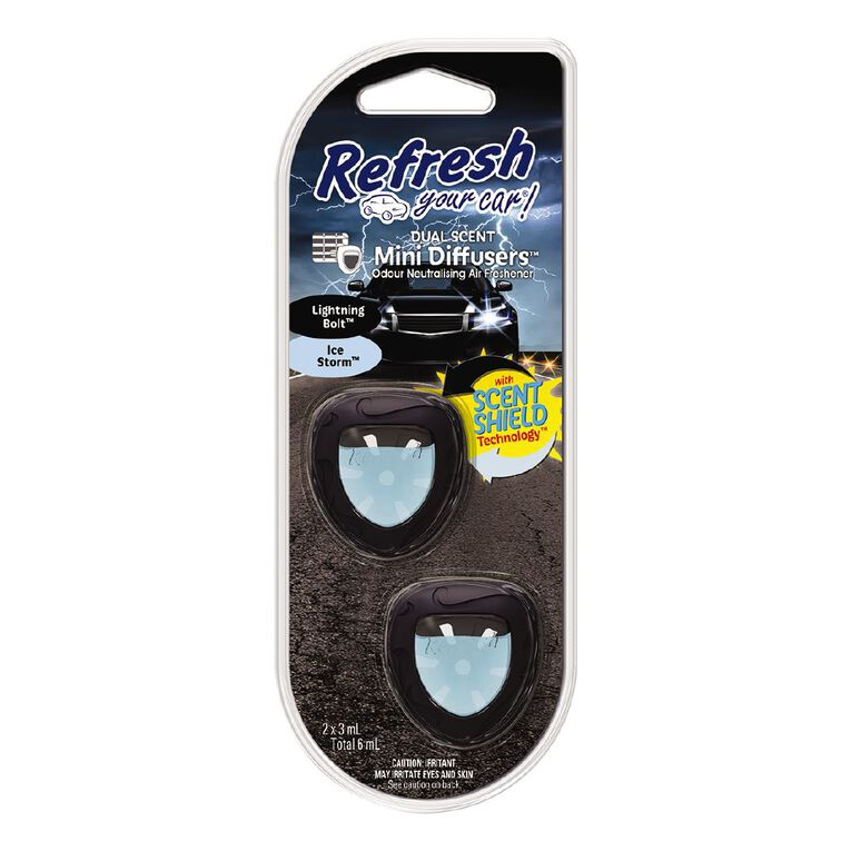 Refresh Your Car Mini Diffuser Lighting Bolt/Ice Storm 2 Pack, , hi-res image number null