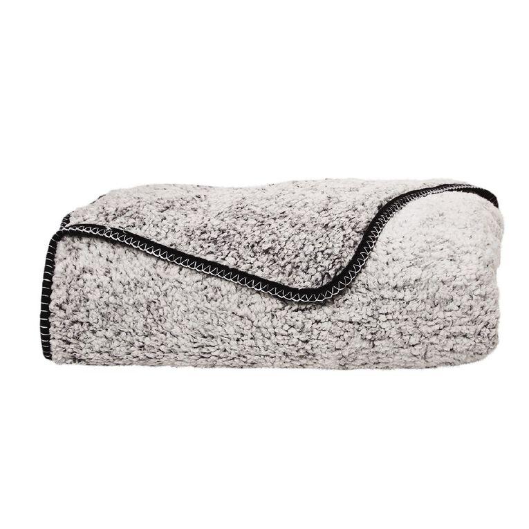 Living & Co Blanket Sherpa Teddy Black One Size, , hi-res