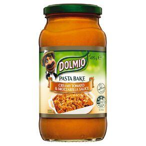 Dolmio Pasta Bake Pasta Sauce Creamy Tomato & Mozzarella Jar 490g