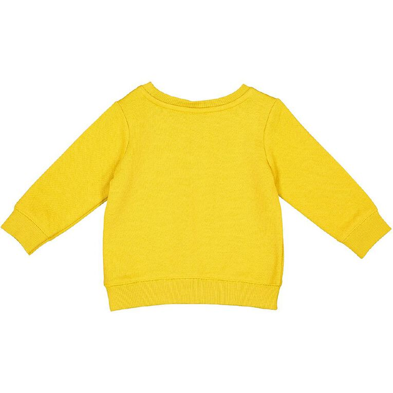 Young Original Baby Printed Sweatshirt, Yellow Mid, hi-res