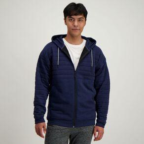 Active Intent Men's Quilted Panel Zip Thru Sweatshirt