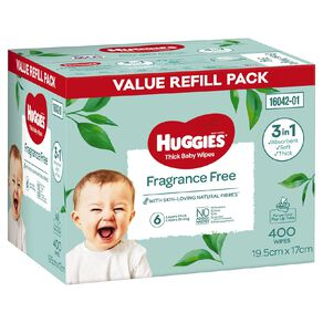 Huggies Wipes Fragrance Free Value Refill Pack