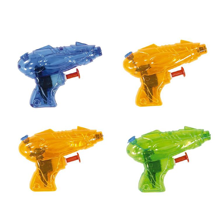 Party Inc Water Pistols 4 Pack Assorted, , hi-res