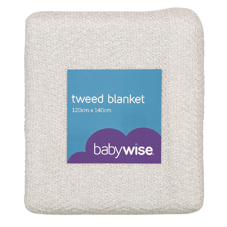 Babywise Tweed Sherpa Blanket, , hi-res