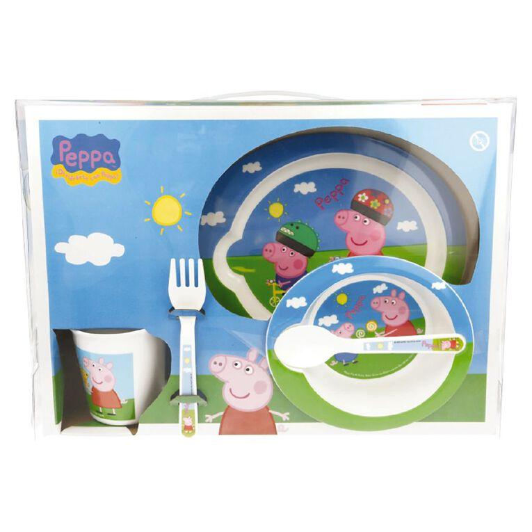 Peppa Pig Zak! Licensed Peppa Pig 5pc Feeding Set, , hi-res