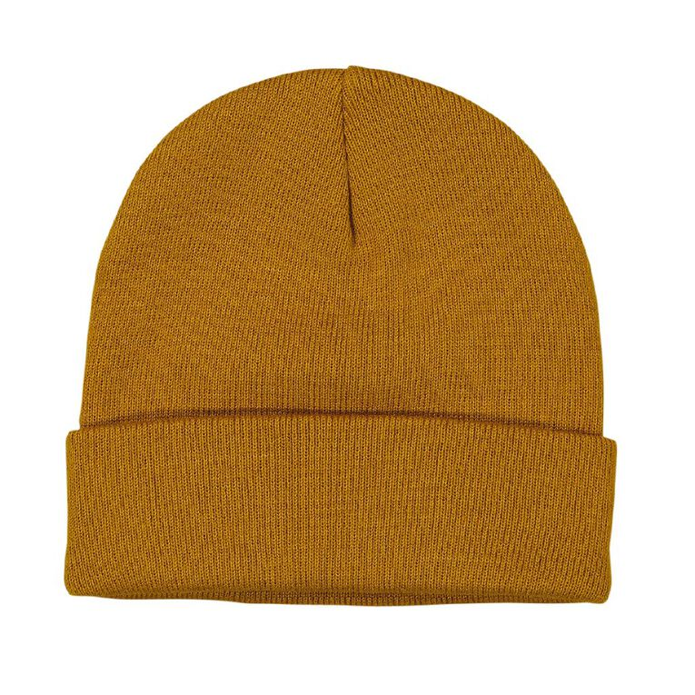 H&H Essentials Entry Turn Up Beanies, Yellow, hi-res