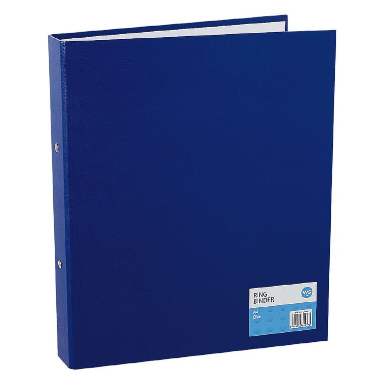 WS Ring Binder PVC Blue A4, , hi-res