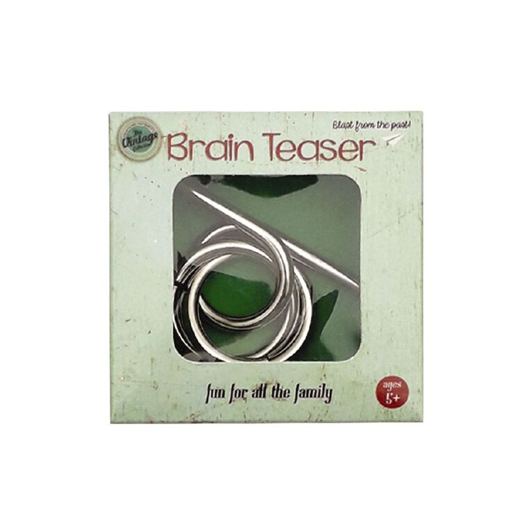 Brain Teaser Puzzle Vintage Assorted, , hi-res