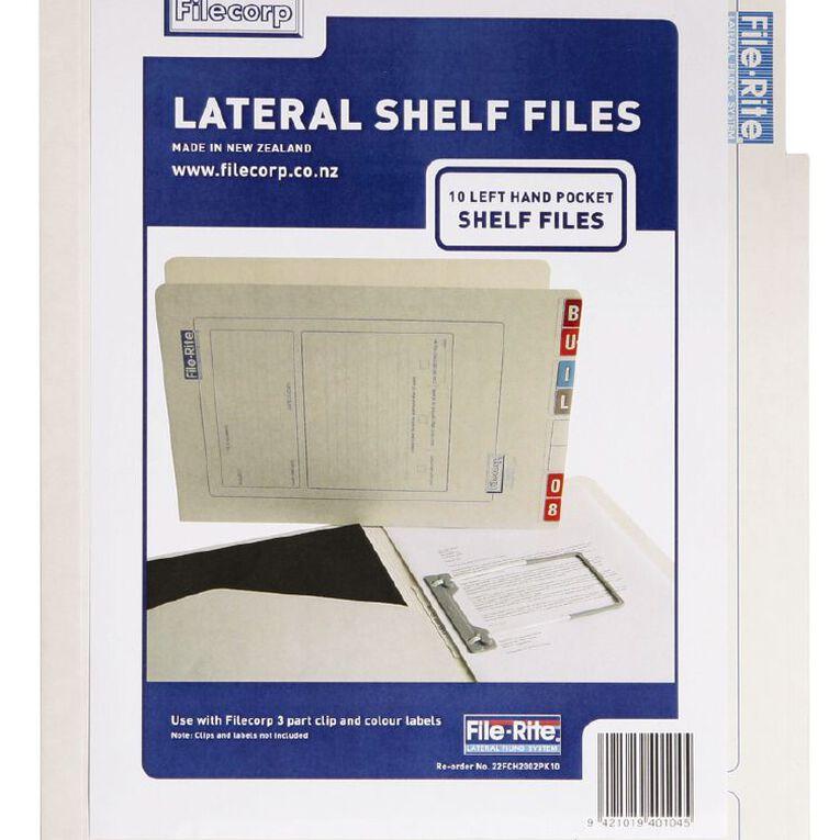 Filecorp 2002 Left Hand Pocket Shelf File 10 Pack White, , hi-res