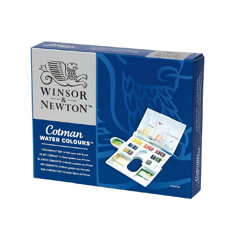Winsor & Newton Cotman Watercolour Compact Set 14, , hi-res