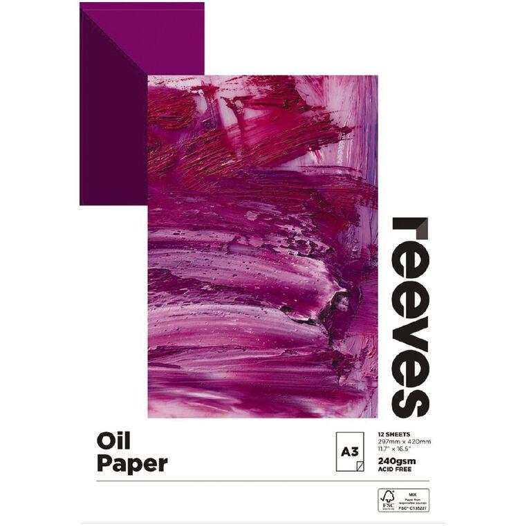 Reeves Oil Colour Pad A3, , hi-res