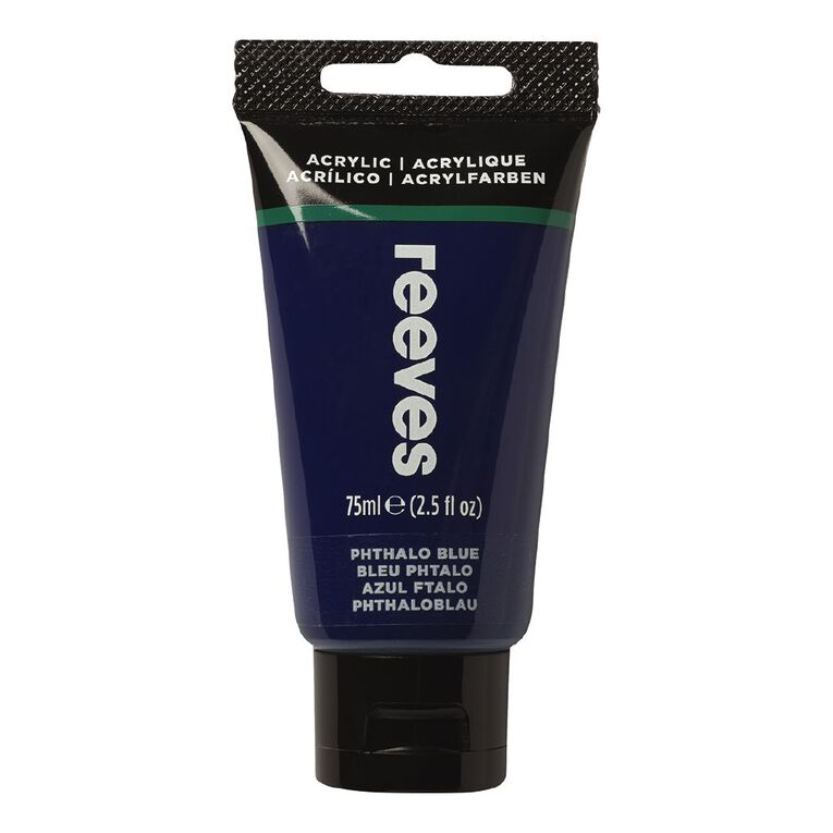 Reeves Fine Acrylic 75ml Phthalo Blue 330 75ml, , hi-res