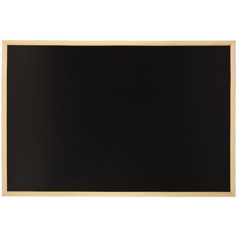 WS Wooden Frame Non-Magnetic Black board 600 x 900mm, , hi-res