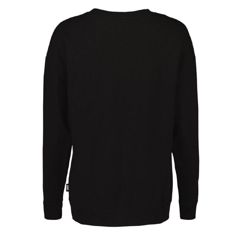 Hello Kitty Women's Long Sleeves Lounge Sweatshirt, Black, hi-res