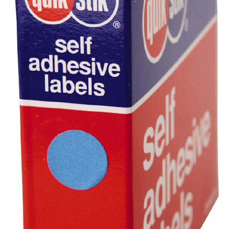 Quik Stik Labels Dots Mc14 1050 Pack Blue, , hi-res