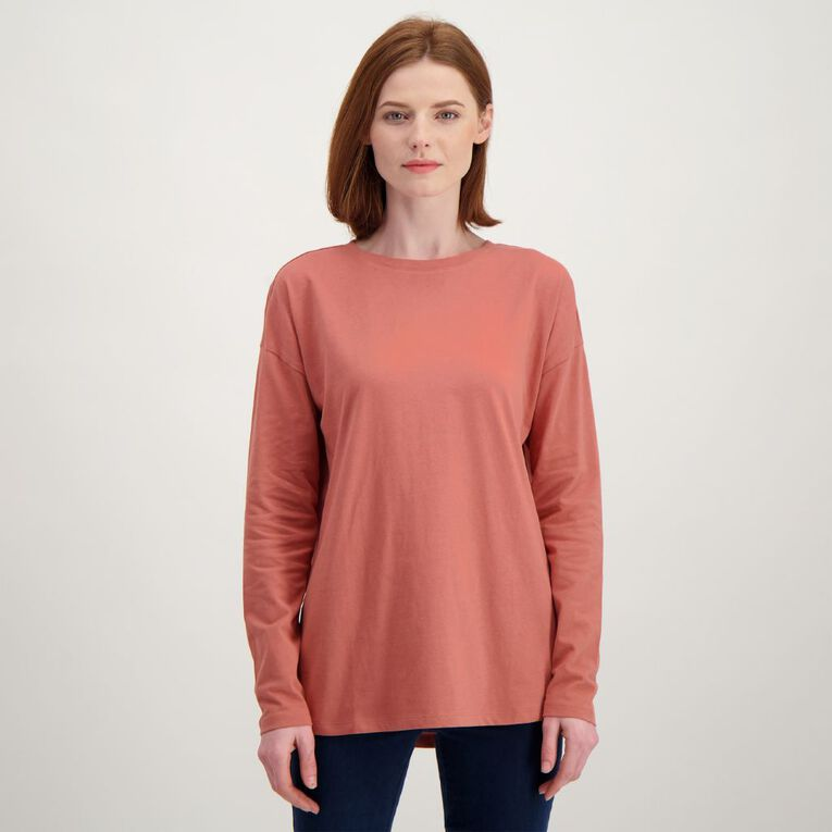 H&H Women's Long Sleeve, Brown Mid, hi-res