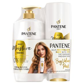 Pantene Daily Moisture Renewal 500ml Shampoo and Conditioner Bundle