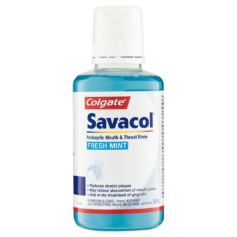 Colgate Savacol Mouth & Throat Rinse Freshmint 300ml, , hi-res