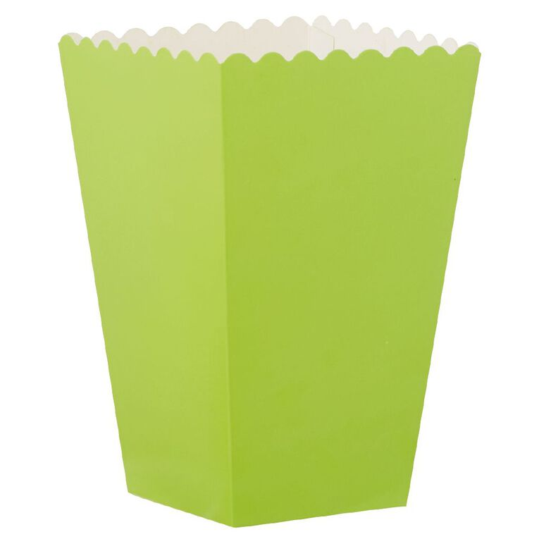 Party Inc Popcorn Boxes Green 8 Pack, , hi-res