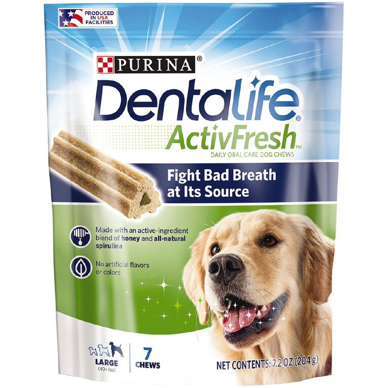 Purina Dentalife Activefresh Large Dog Treats 204g, , hi-res