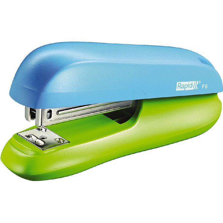 Rapid Half Strip Stapler F6 with Staples Funky Blue/Green, , hi-res