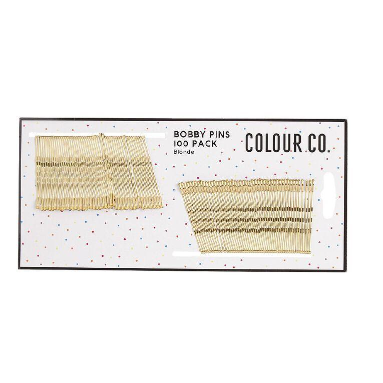Colour Co. Hair Bobby Pins Blonde 4.7cm 100 Pack, , hi-res