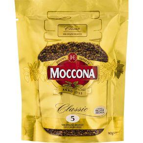 Moccona Freeze Dried Classic Medium Roast Refill 90g