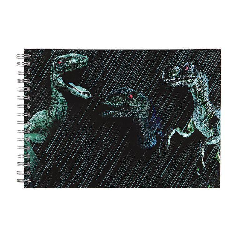 Kookie Rawr Sketchpad Spiral Dino Green Dark A4, , hi-res