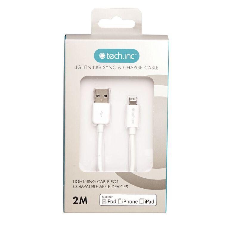 Tech.Inc Lightning Cable 2m White, , hi-res