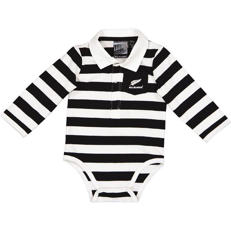 All Blacks Long Sleeve Bodysuit, White, hi-res